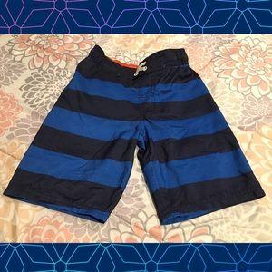 Boys striped swim shorts (M)